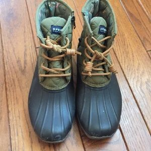 Sperry Top-Sider Waterproof Rubber Boots Size 7